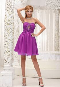 Sweetheart Short Middle School Graduation Dresses in Fuchsia with Ruching