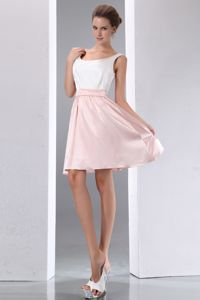 Scoop White and Pink Mini-length Junior Graduation Dresses in Waverly Hall