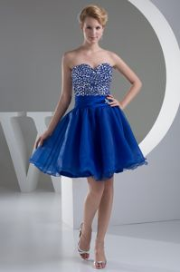 Lovely Organza Ruffled Short College Graduation Dress with Beaded Bodice