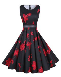 Clearance Red And Black Scoop Neckline Sashes ribbons and Pattern Quince Ball Gowns Sleeveless Zipper