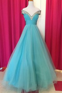 Off the Shoulder Sleeveless Beading Backless Quinceanera Dress