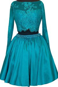 Modern Long Sleeves Beading and Lace Zipper Quinceanera Gowns