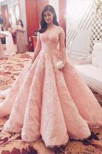 Unique Short Sleeves Sweep Train Lace Zipper Sweet 16 Quinceanera Dress