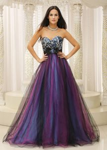 Leopard Sweetheart and Belt Colorful Junior Graduation Dresses in Aliceville