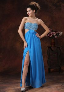 Teal Beads Decorate Stylish Eighth Grade Graduation Dresses in Andalusia