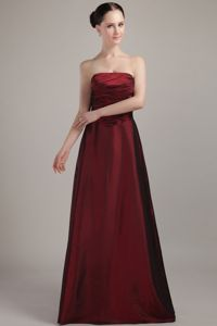 Empire Strapless Wine Red Graduation 2013 Dresses for Girls in Duncanville