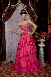 Hot Pink 2013 A-line Sweetheart Beading Brush Graduation Dress in Dothan