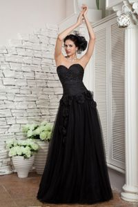 Empire Beaded Flowers Accent Sweetheart Graduation Dresses for Grade 8